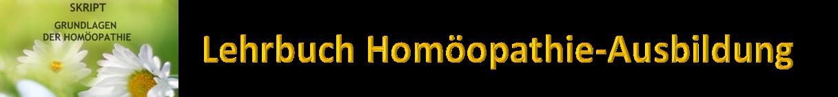 Lehrbuch Homöopathie-Ausbildung